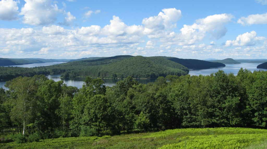 Quabbin Reservoir, viewed from the Enfield lookout, in Western Massachusetts.